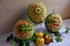Watermelon carving by Carvingal 6