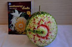 Watermelon carving by Carvingal 7
